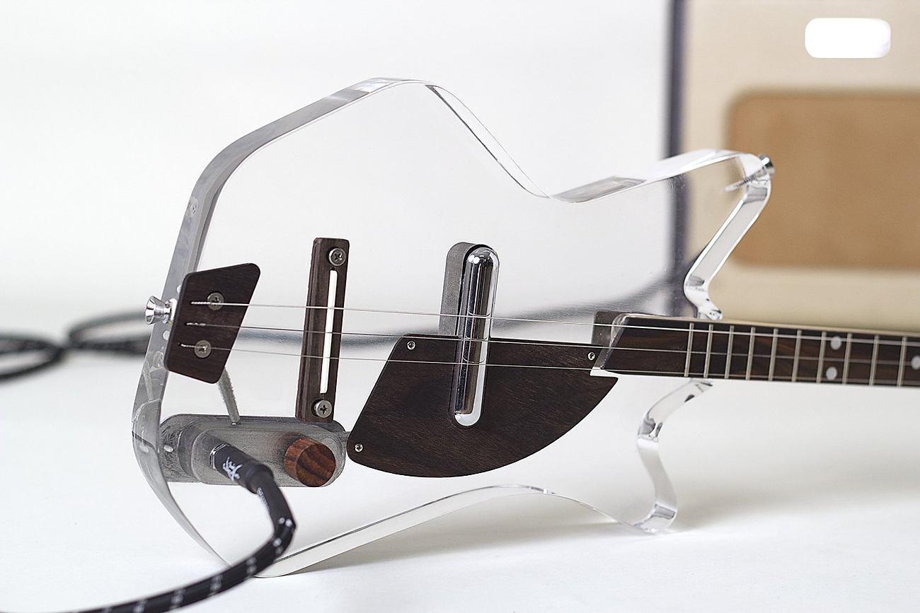 Lucite 3-String Electric Guitar by Loog