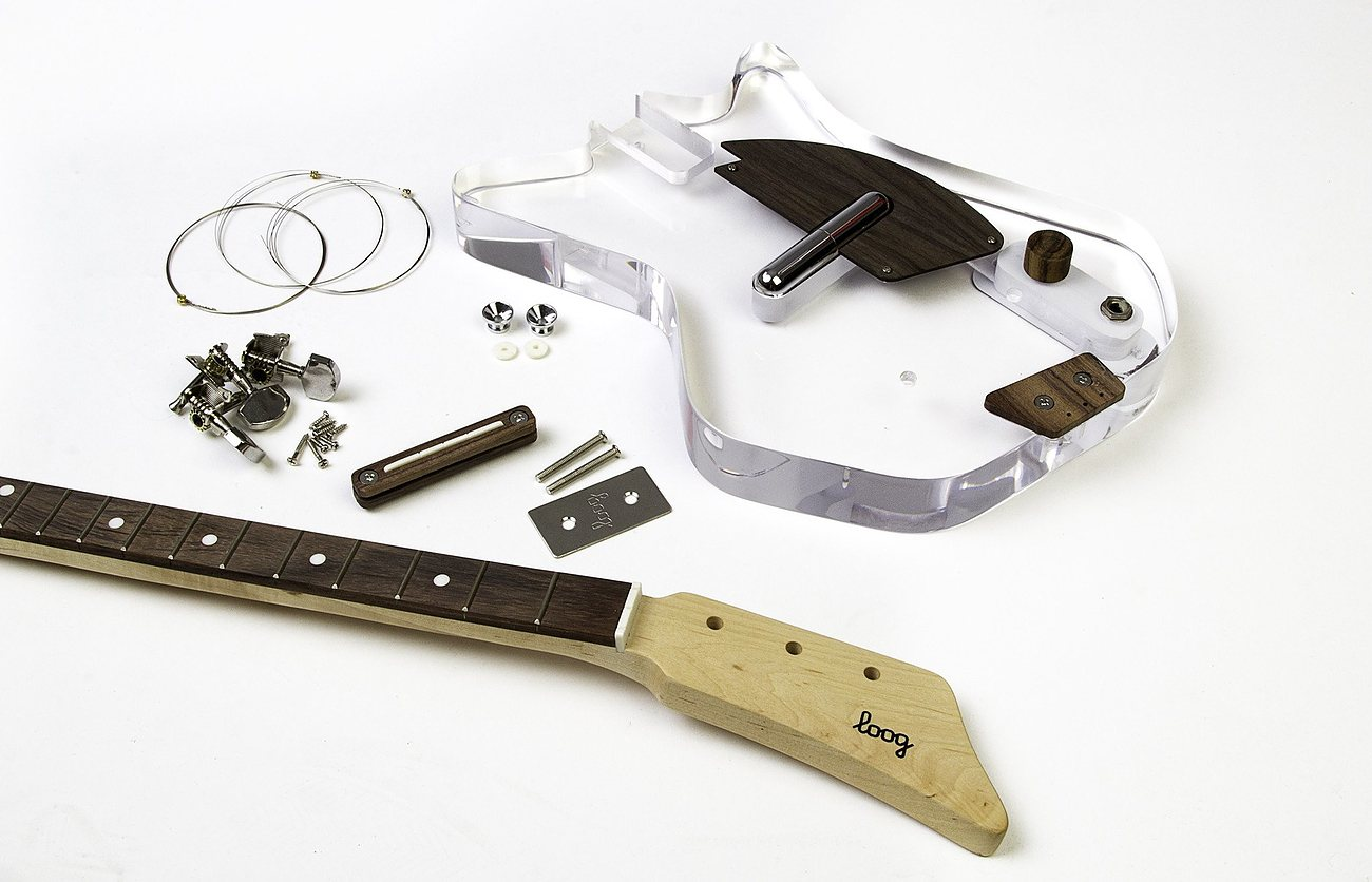 lucite 3 string electric guitar by loog review the gadget flow. Black Bedroom Furniture Sets. Home Design Ideas