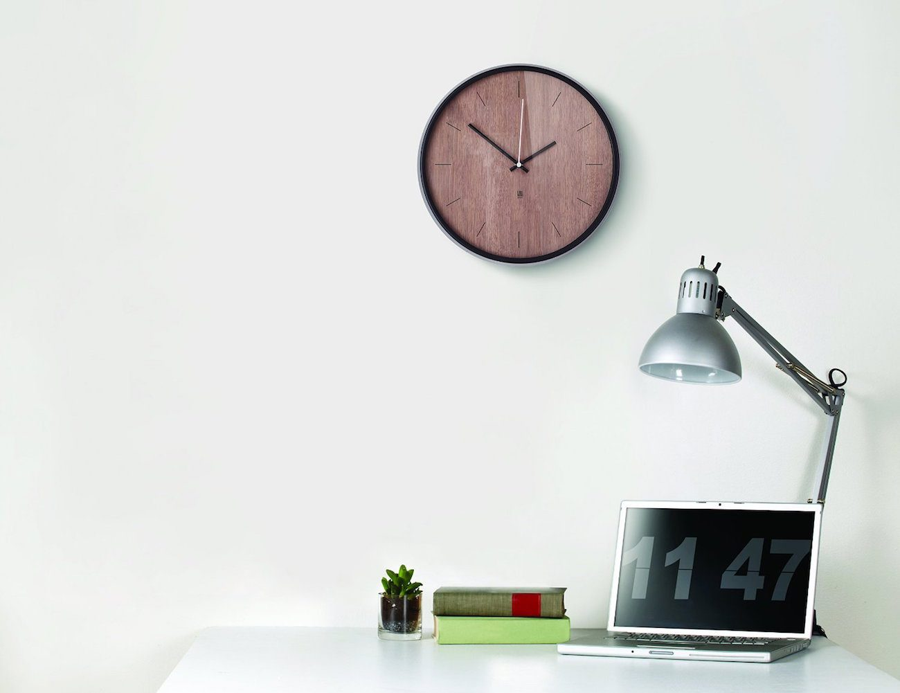 Madera+Wooden+Clock+By+Umbra