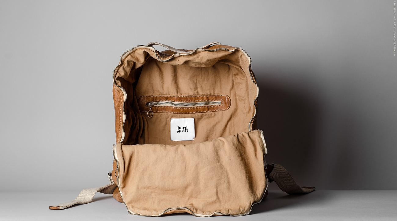 Misfit Leather Backpack by Hard Graft