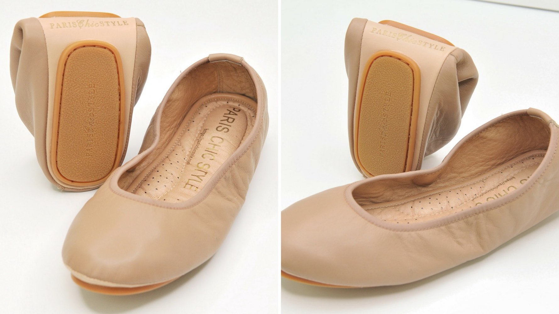 Frenchie Paris Handcrafted Foldable Ballet Flats