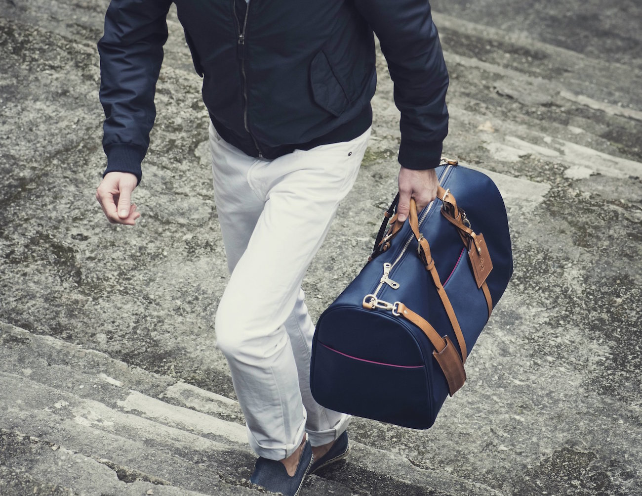 Navy & Tan Monaco Weekender by Stuart & Lau
