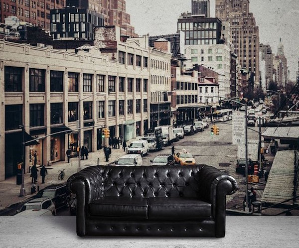 Streets of New York Wall Mural by Eazy Wallz