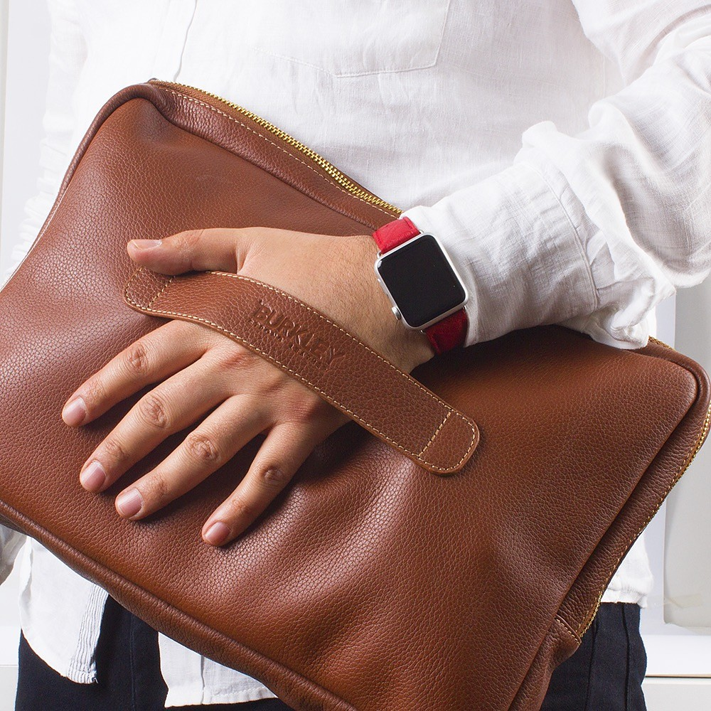 Vintage Leather Laptop Bag by Burkley