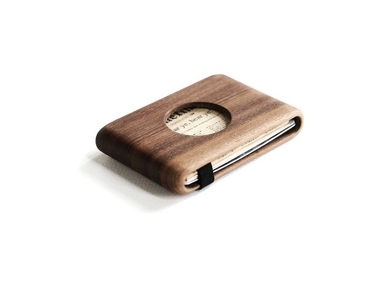 Wood Wallet with Elastic Band by IPPINKA
