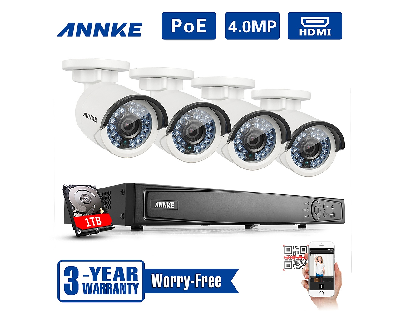 Annke 4MP Security Cameras-A Sense of Security Anytime Anywhere