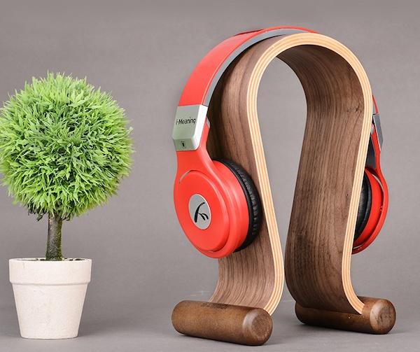 Birch Wood Headphone Holder