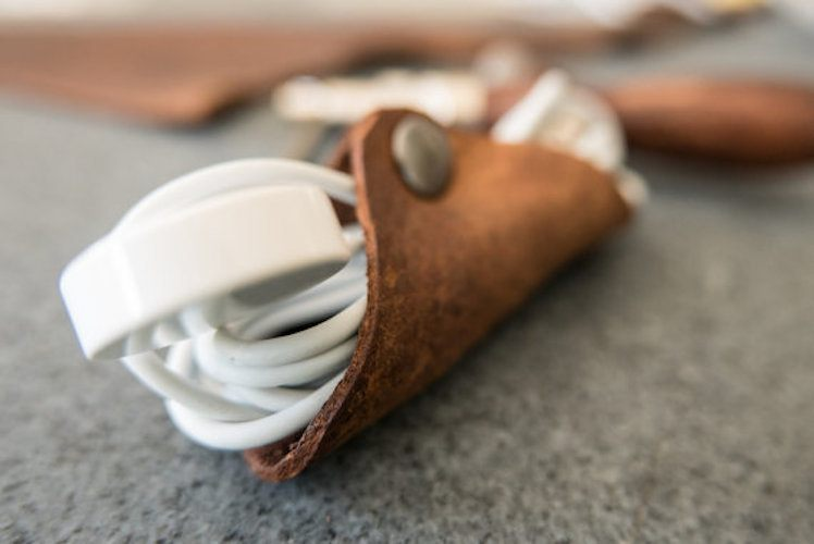 Leather Cord Cable Organizer