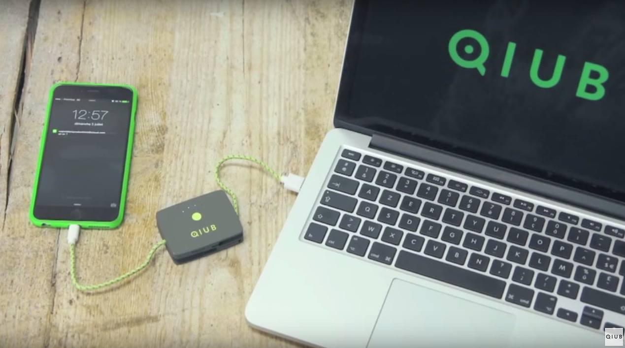 QIUB – Power Bank, Cable, Memory All-in-1 Pocket Size