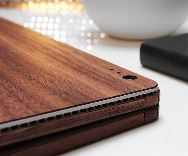 Wood Book Cover Material : Real wood cover for surface book by toast gadget flow