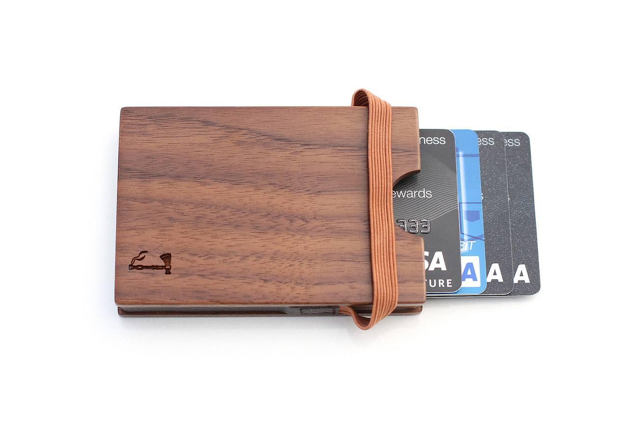 Walnut Card Wallet by Slim Timber