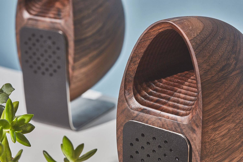 Walnut Speakers by Grovemade x Joey Roth