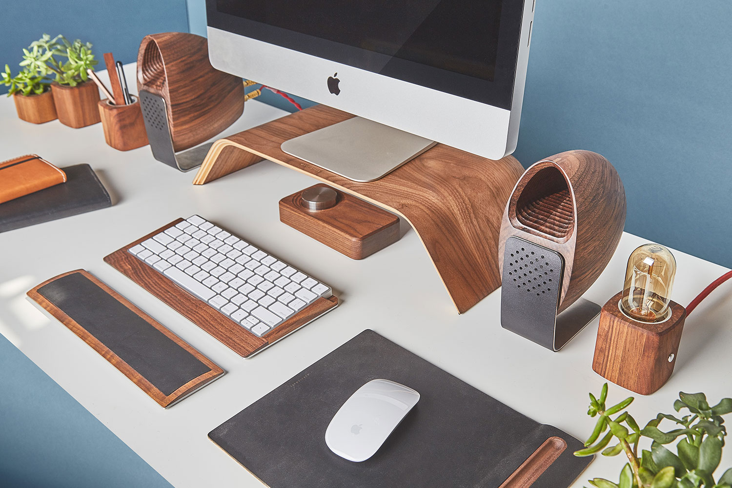 Walnut Speakers by Grovemade x Joey Roth