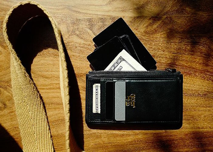 Zip Cards Leather Wallet by Hard Graft