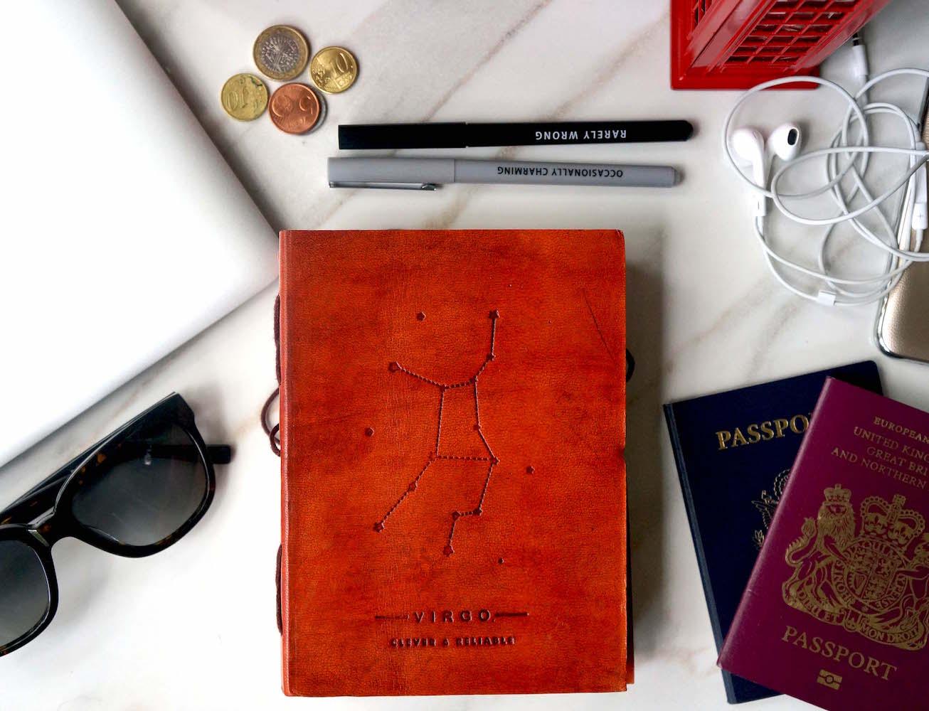 Zodiac Handmade Leather Journal