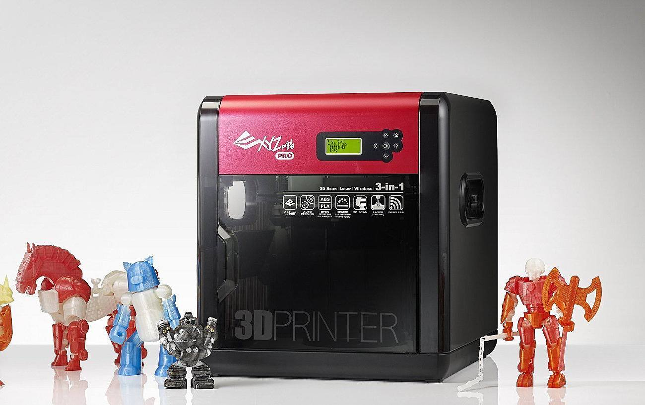 da Vinci Pro 3-in-1 Open Source Filament 3D Printer