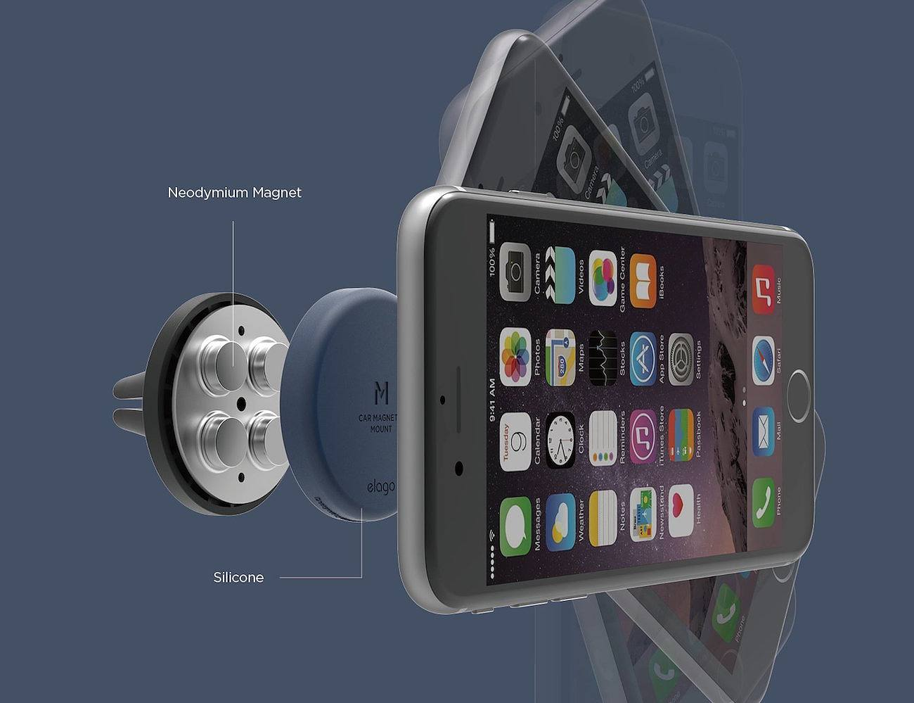 elago Magnetic Smartphone Car Mount