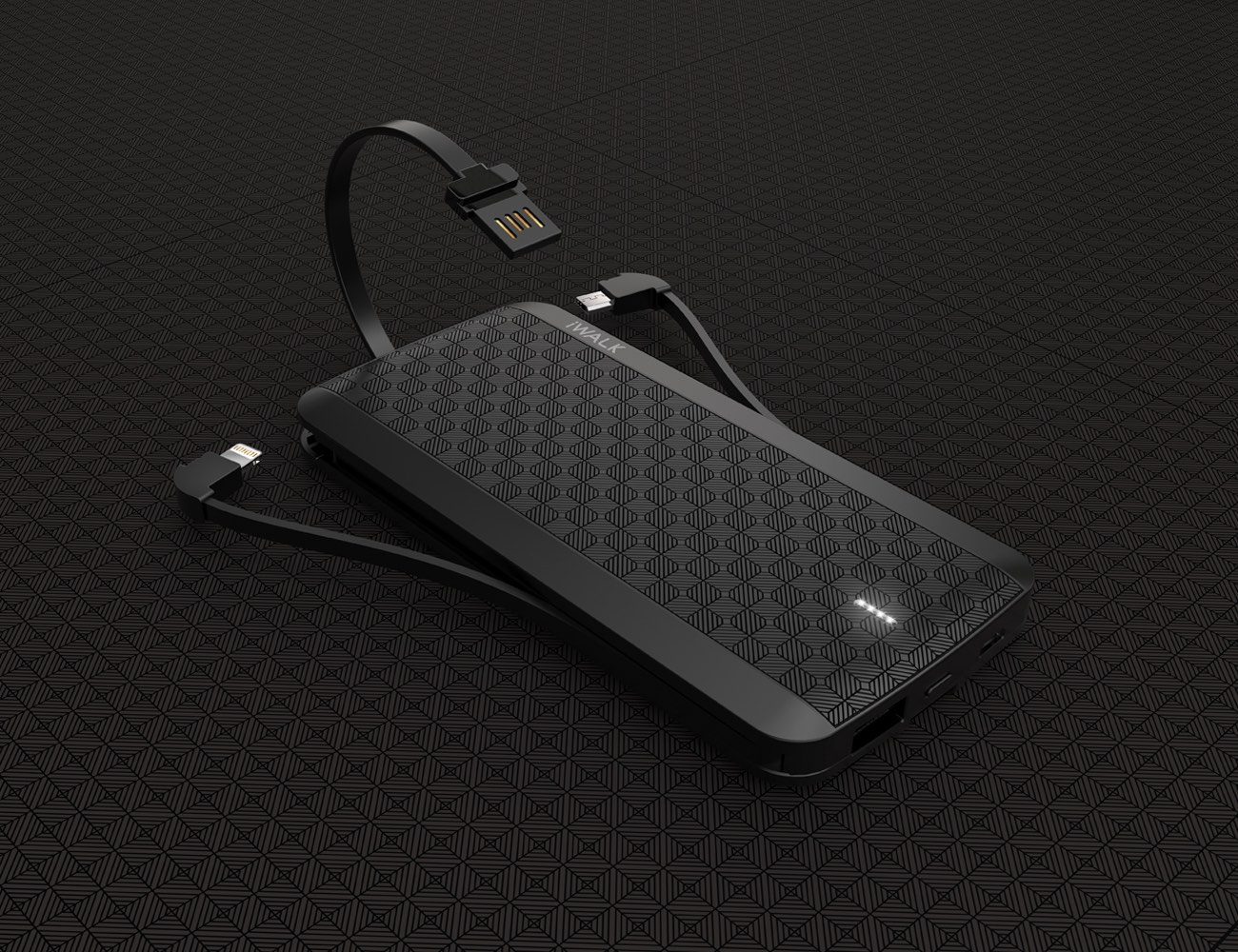 iWalk Scorpion Ultra Slim Power Bank With Built In Cables