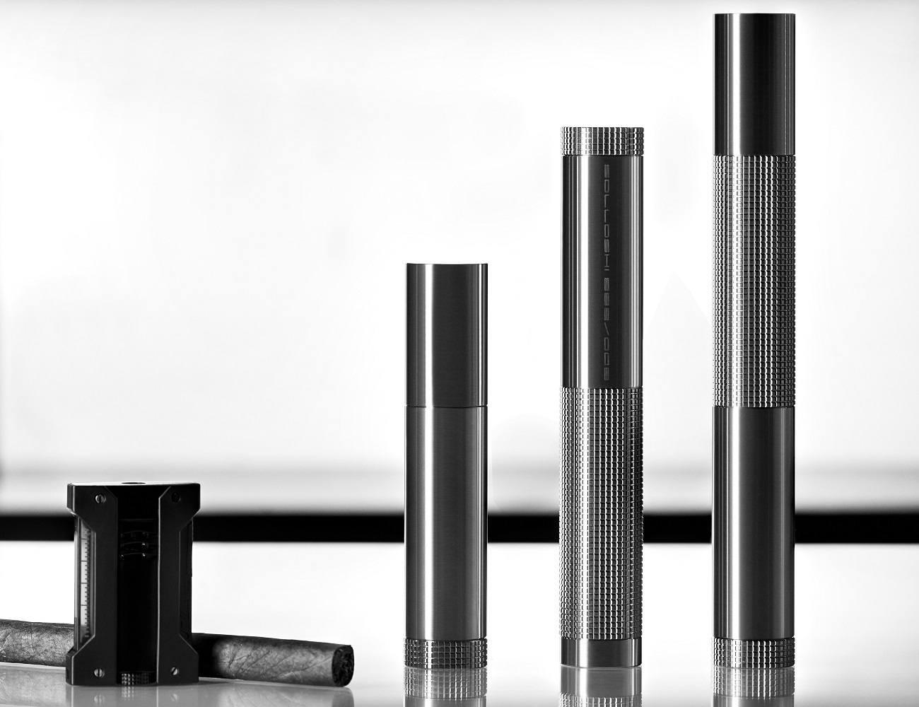 888 Series Large Titanium Cigar Tube