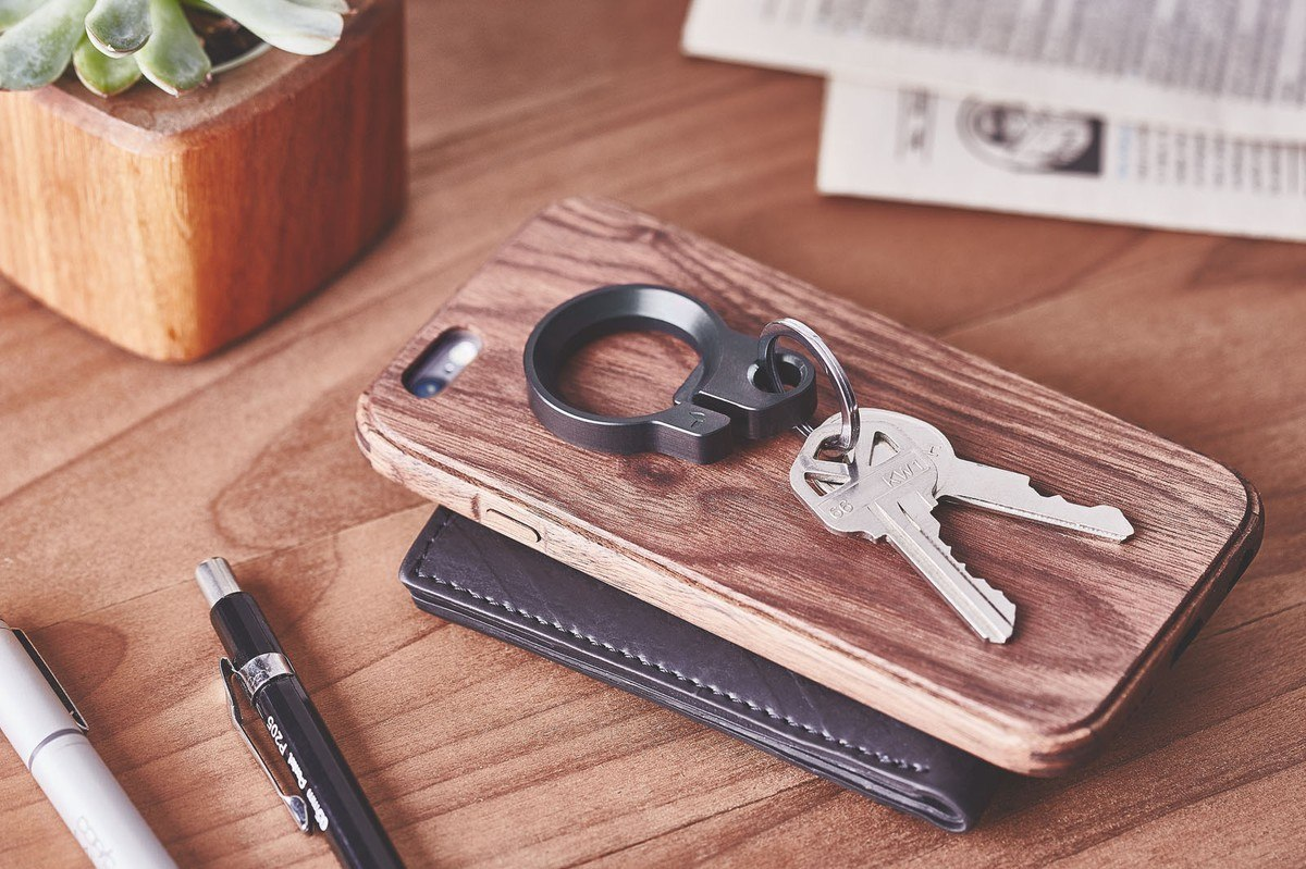 Black Oxide Key Ring by Grovemade
