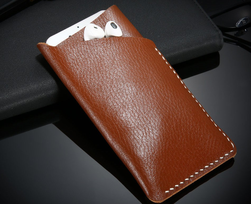 FLOVEME Genuine Leather Universal Wallet Case