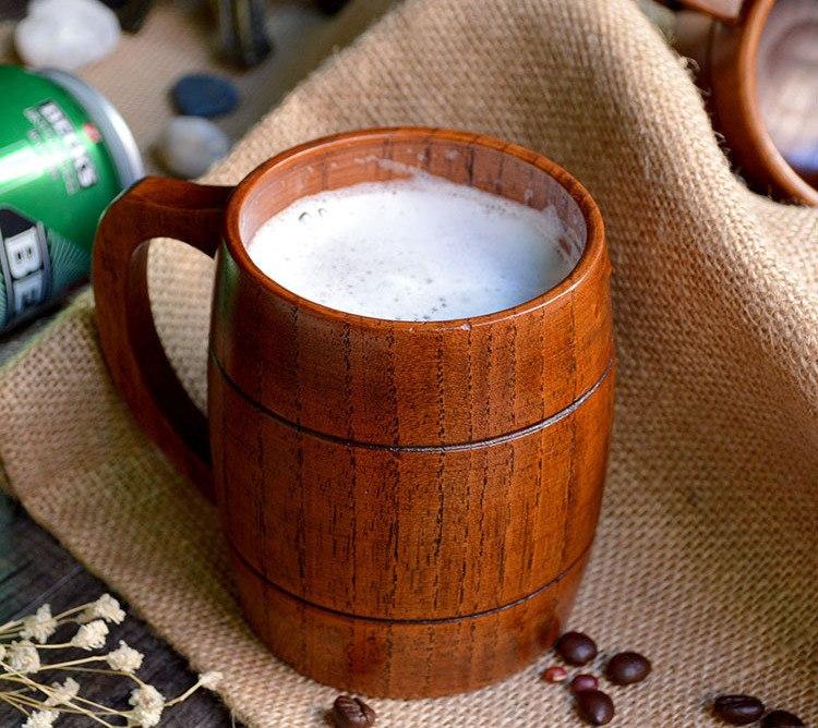 Handmade Wooden Beer Mugs