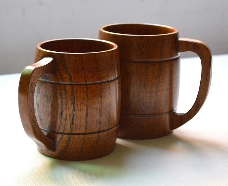 Handmade Wooden Beer Mugs » Gadget Flow