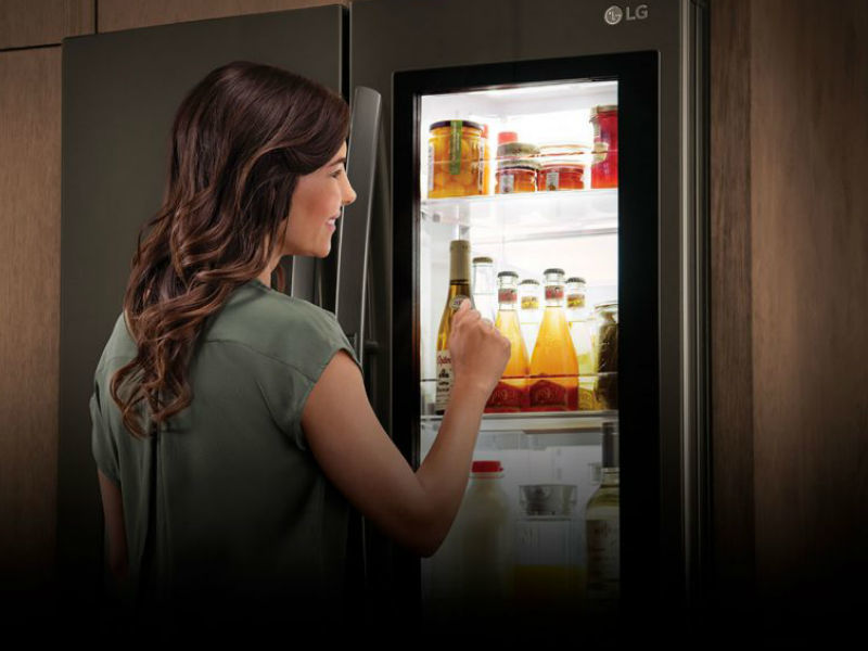 LG Smart Instaview Door-in-Door Fridge