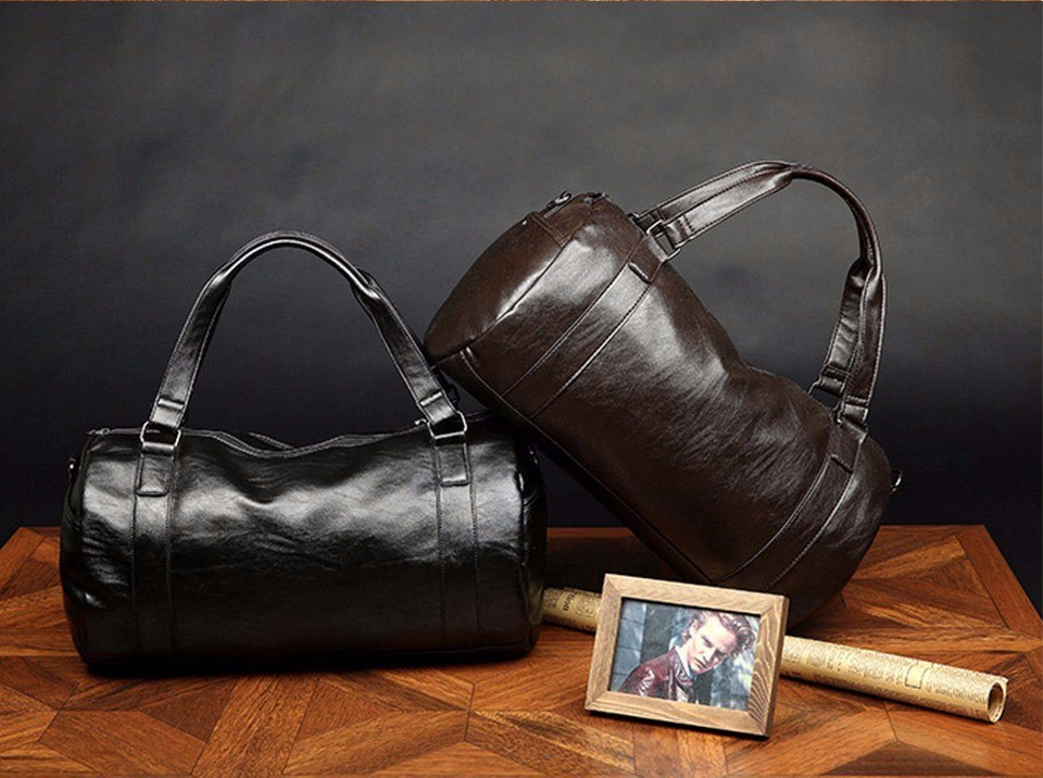 Leather Travel Duffle For Men
