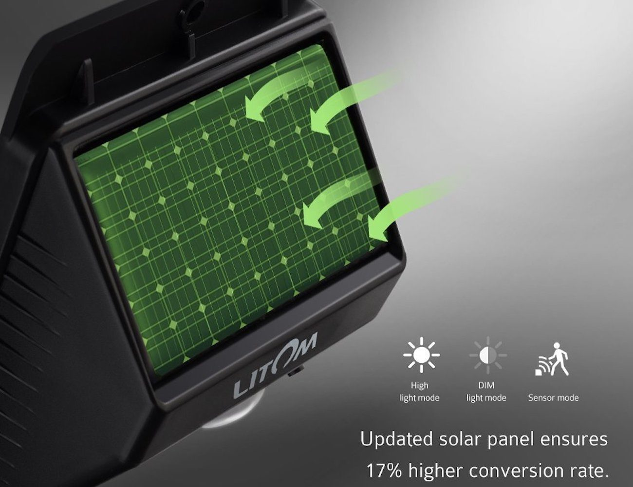 Litom LED Wireless Solar Garden Lights