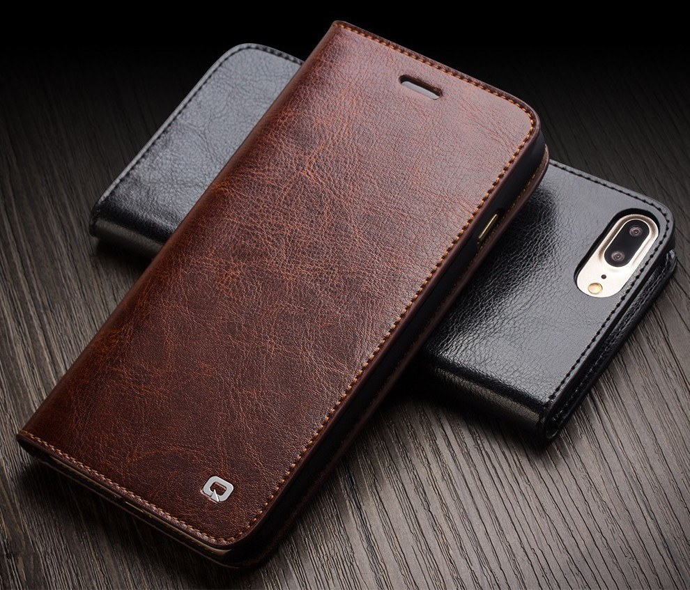 QIALINO Handmade Leather Case for iPhone 7