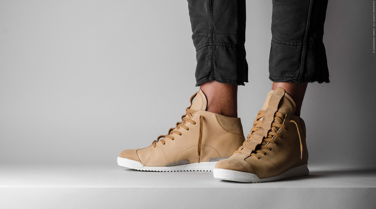 S1 Mid Top Sneakers by Hard Graft