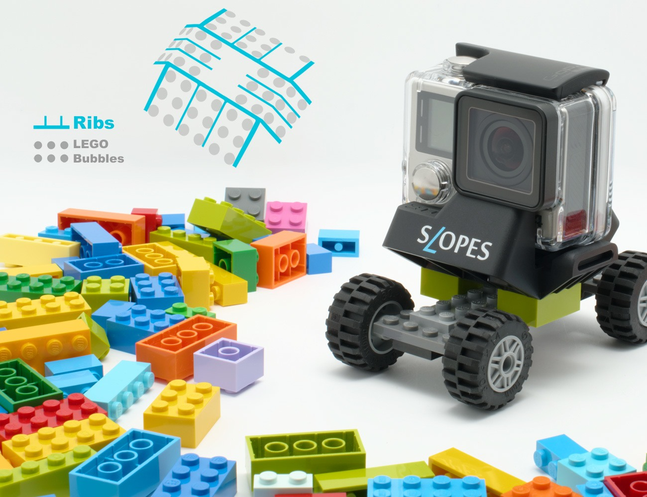 SLOPES Black – Instant Stand for GoPro in Housing