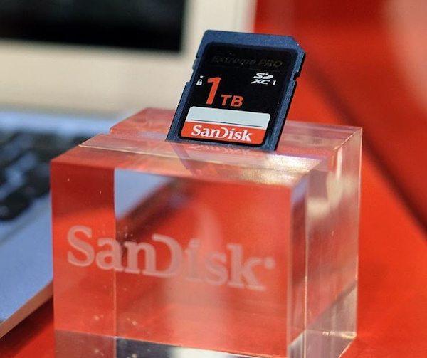 SanDisk 1TB SD Card Prototype