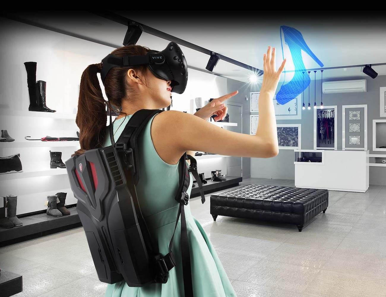 VR One Backpack PC by MSI