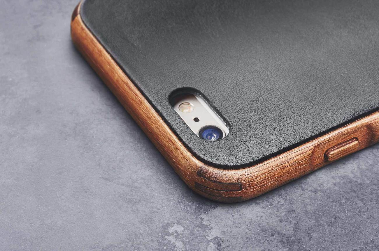 Walnut & Leather iPhone 7 Case