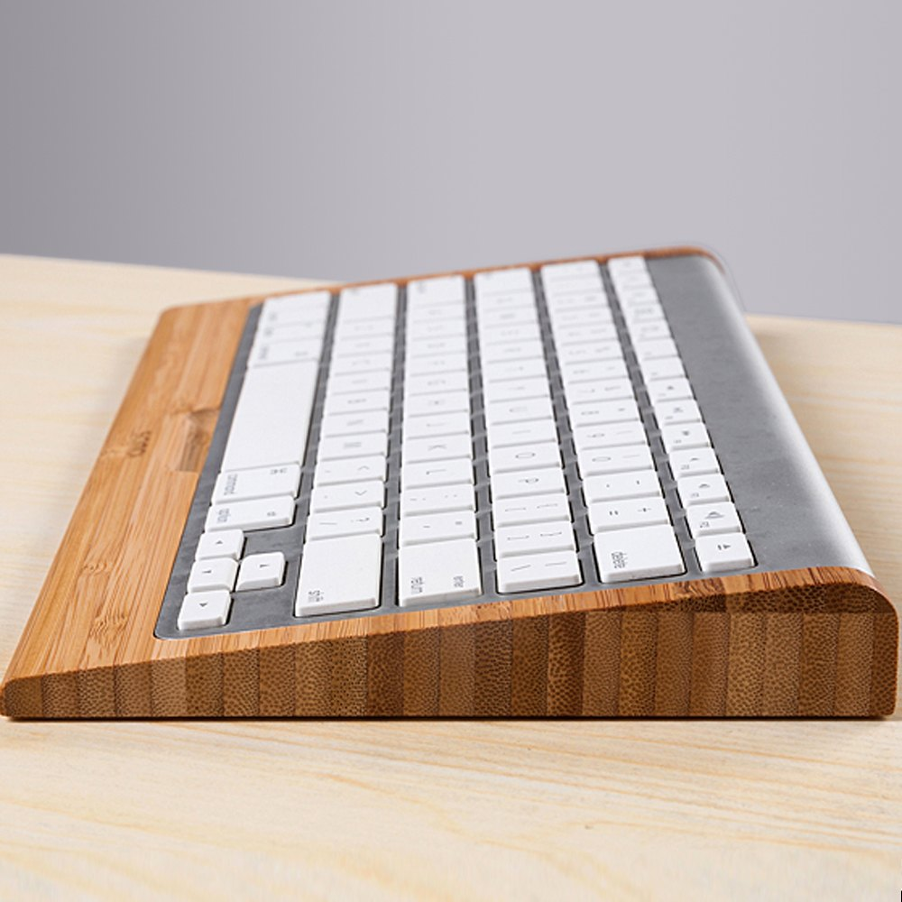 Wooden Apple Keyboard Stand