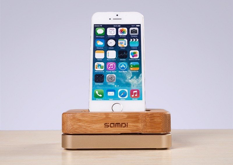 """Wooden Bamboo <em class=""""algolia-search-highlight"""">Charger</em> Dock For iPhone"""