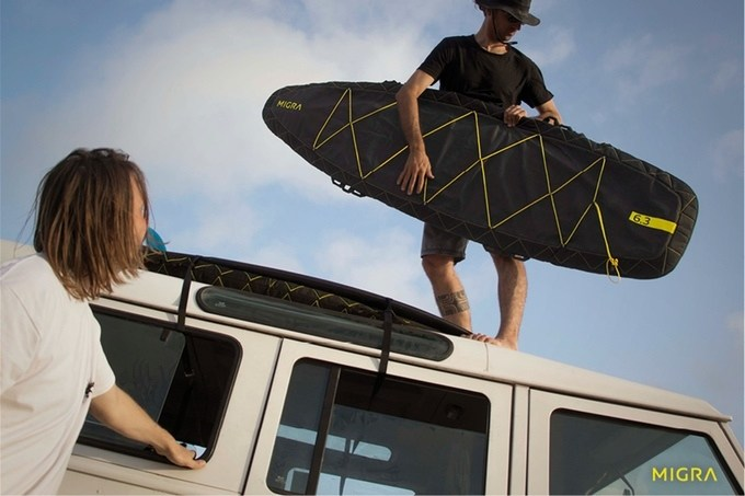 The MIGRA Makes Carrying Your Surfing Gear a Cinch