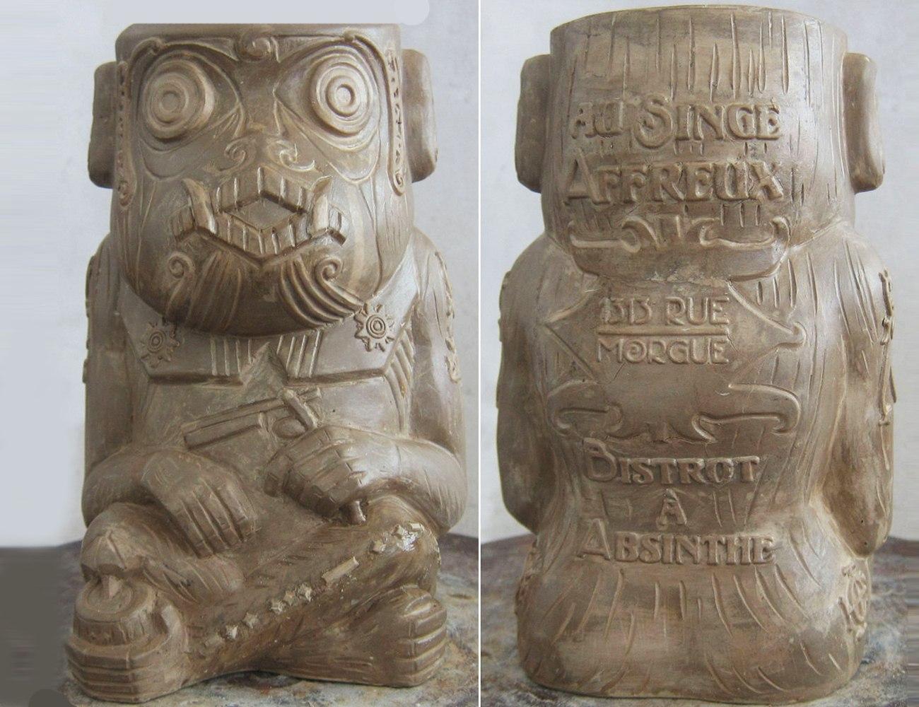 Rue Morgue Murderous Ape Tiki Mug from Horror In Clay