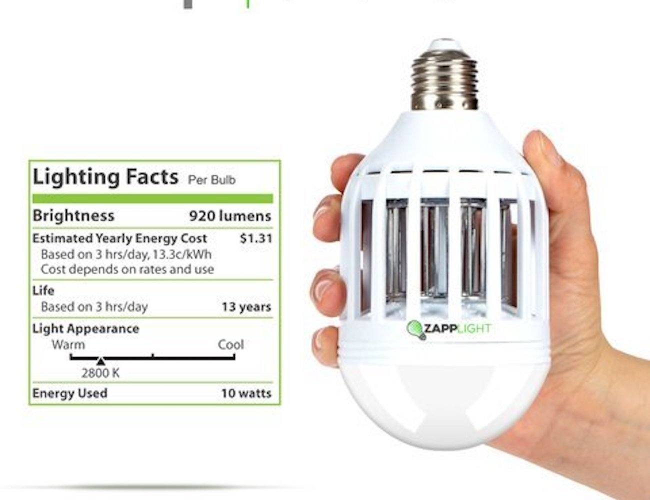 Zapplight LED Light Bulb and Bug Zapper