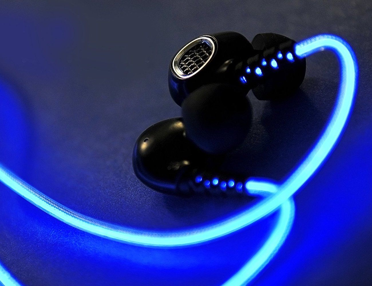 BriteFit Rechargeable Glowing Earbuds