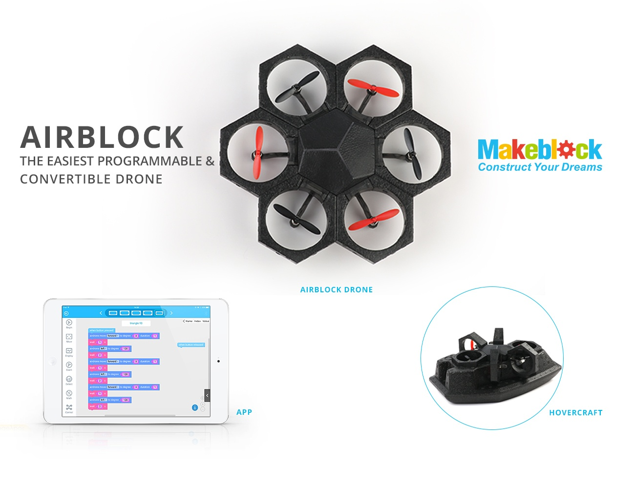 AIRBLOCK – The Easiest Programmable And Convertible Drone