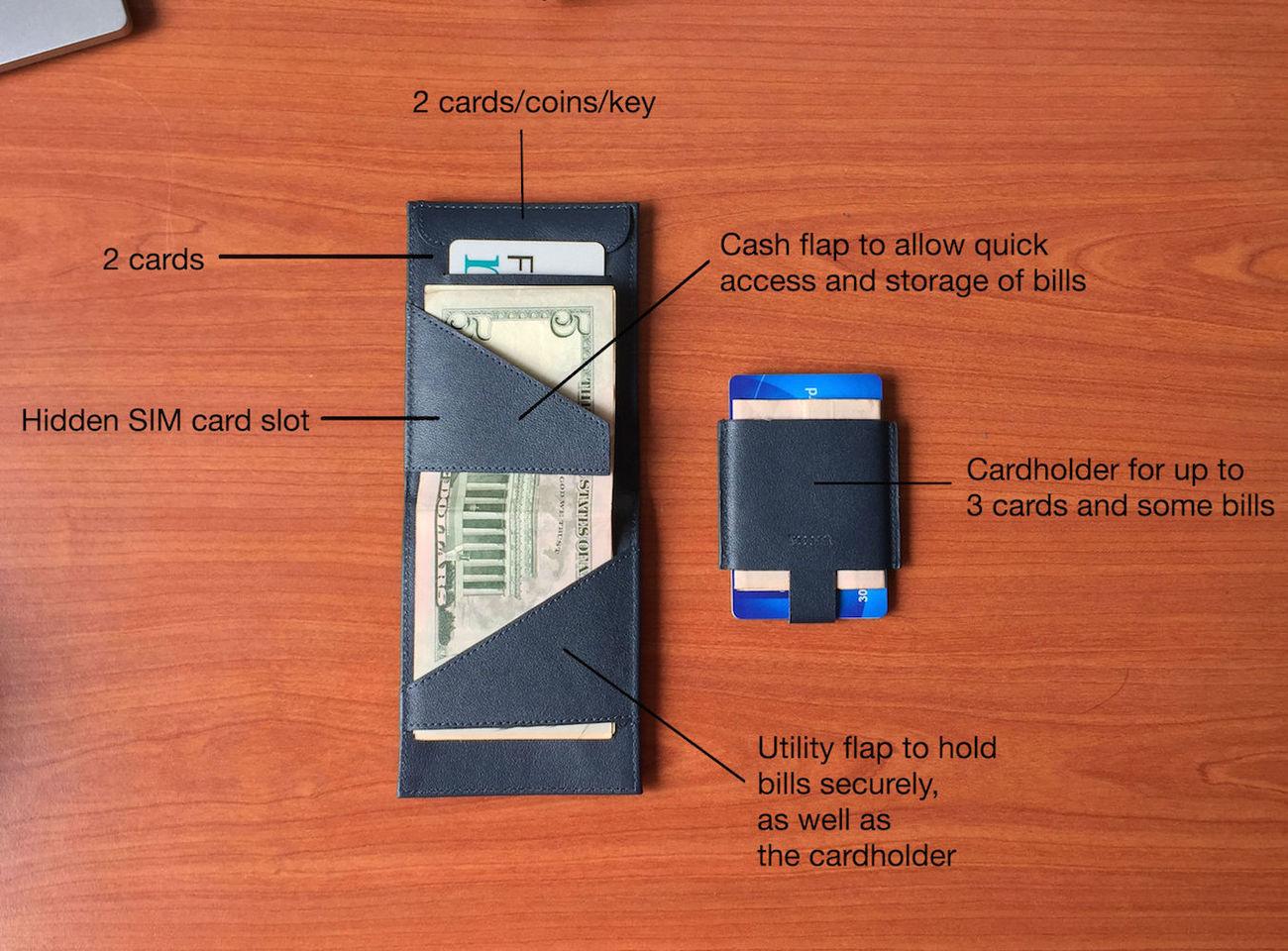 Deuce Wallet – The Best 2-in-1 Minimalist Bifold RFID Wallet