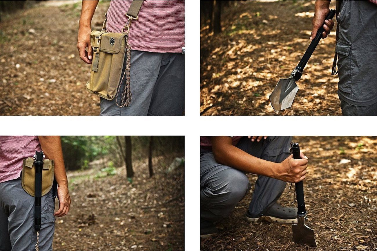FiveJoy Compact Military Folding Shovel