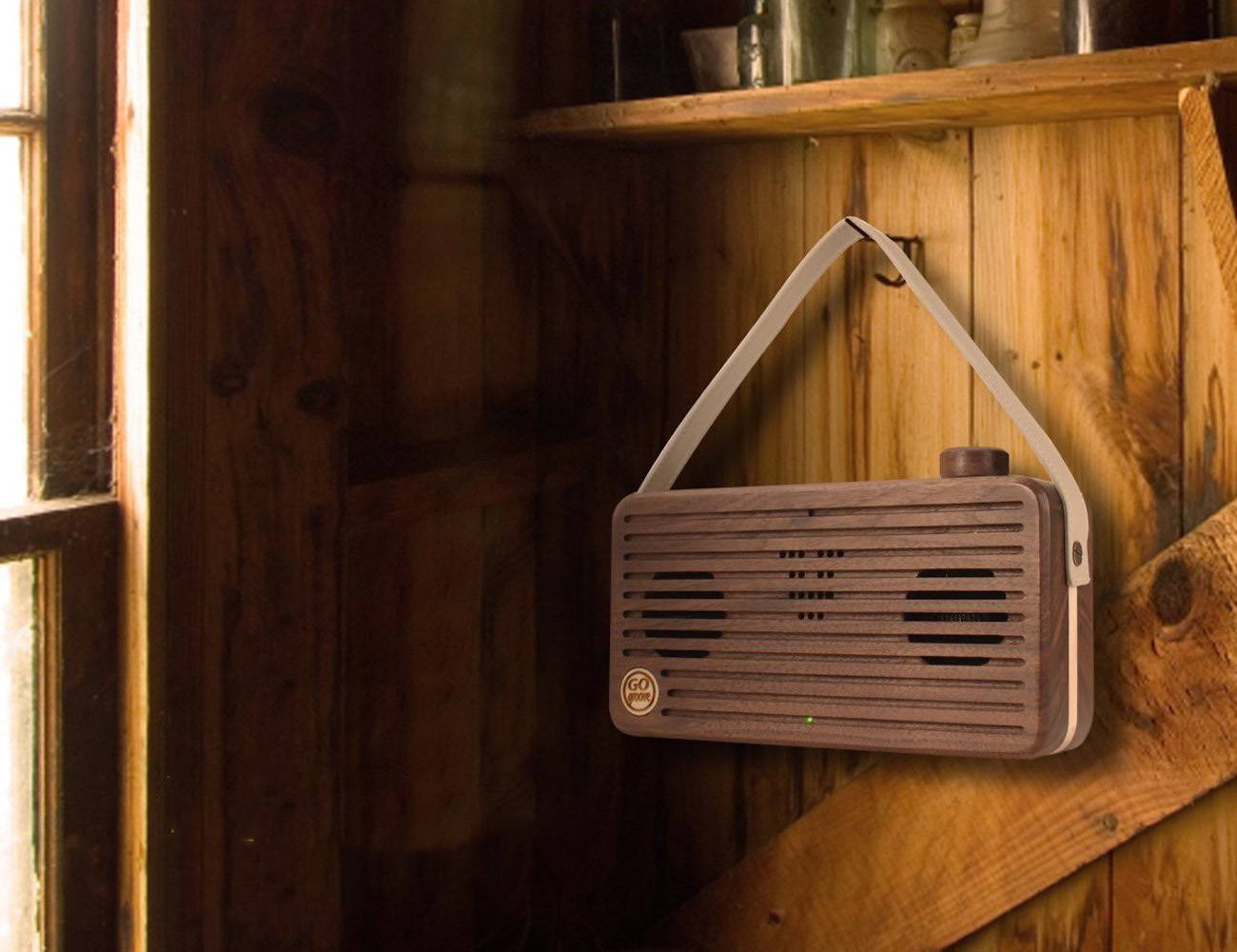 Hand+Crafted+Wood+Speaker+By+Go+Groove