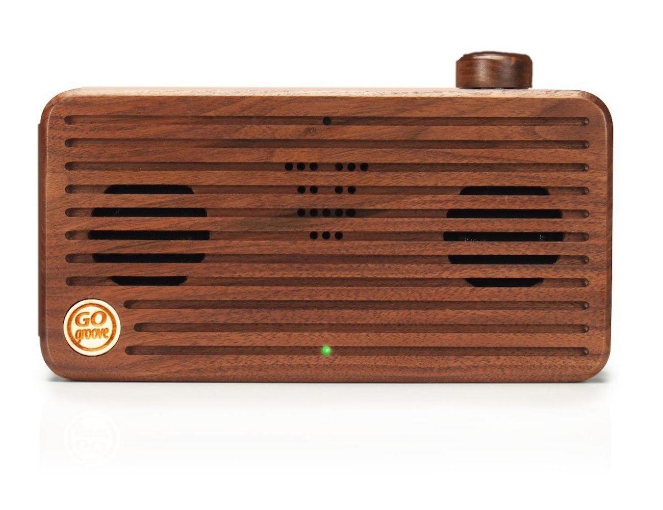 Hand crafted wood speaker by go groove gadget flow for Handcrafted or hand crafted