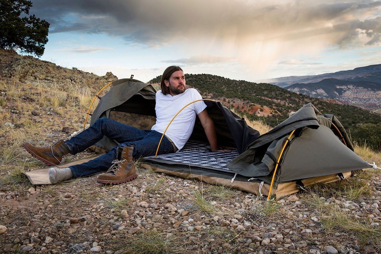 kodiak canvas 1 person swag tent gadget flow