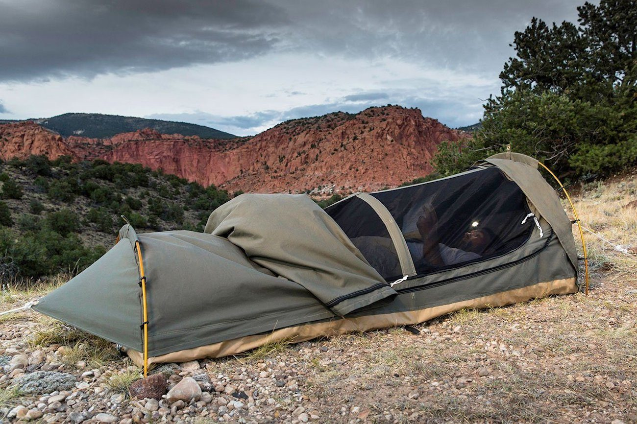 ... Kodiak Canvas 1-Person Swag Tent ... & Kodiak Canvas 1-Person Swag Tent » Gadget Flow