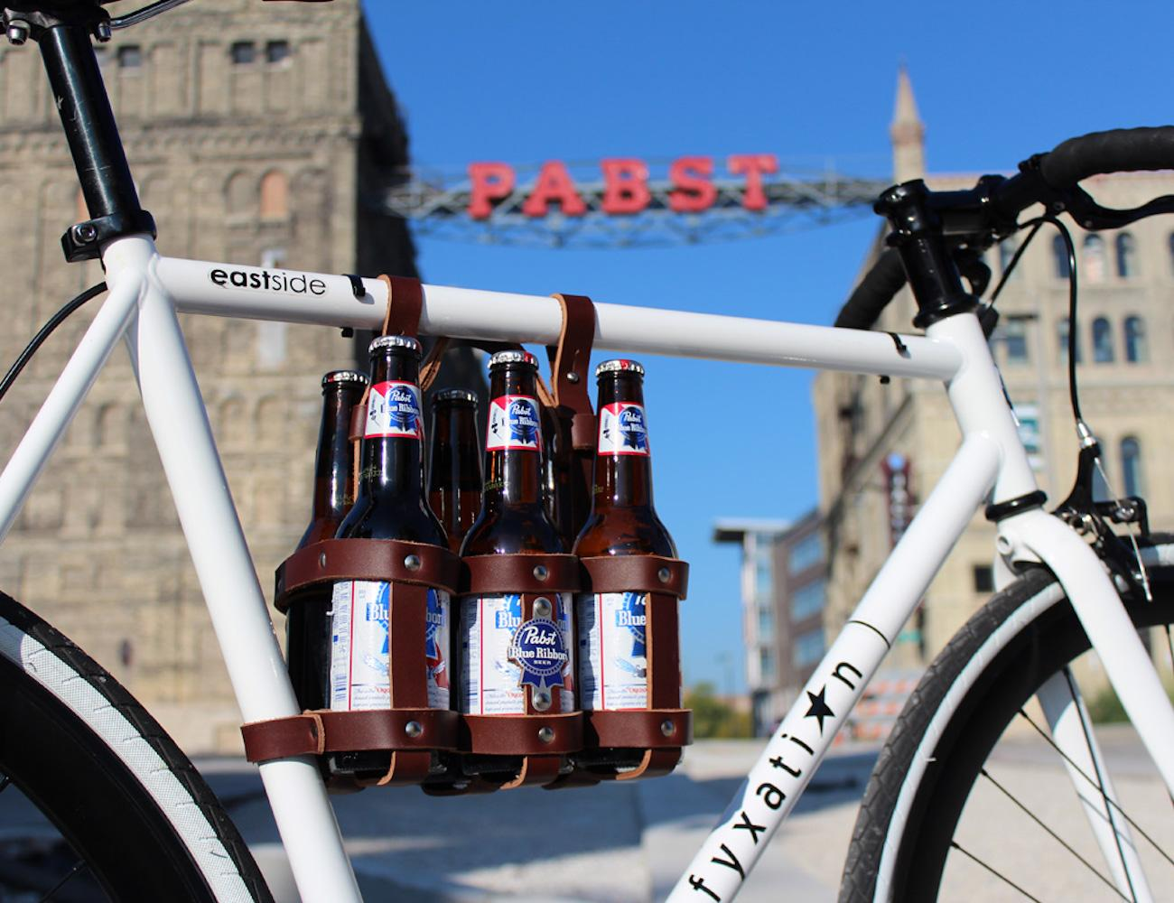 Leather Six-Pack Bike Caddy by Fyxation